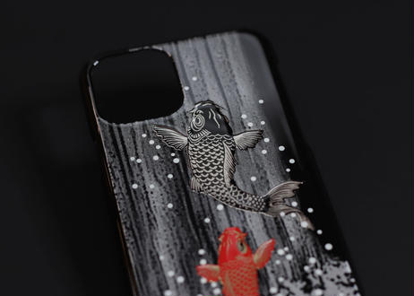 iPhone case 11 Pro  鯉の滝登り|Koi fish climbing against a waterfall