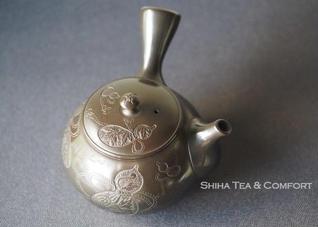 山田宝生葫芦窑变茶壶急須 YAMADA HOUSEI Gourd Teapot Kyusu
