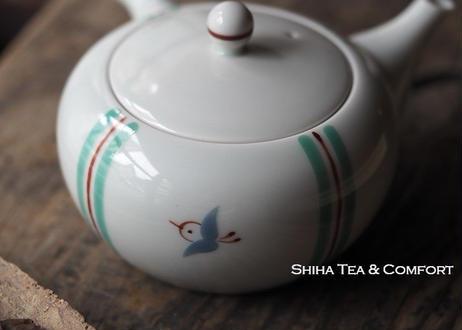 香蘭社白磁大急須茶壺 KORANSHA White Porcelain Teapot Kyusu