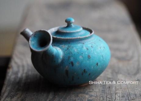 Tokoname Sou Yamada BLUE Senchado Kyusu Teapot 山田想