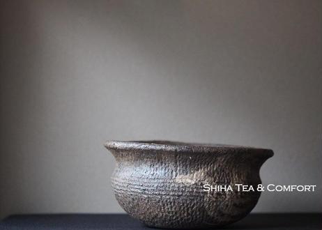 Japanese Tokoname Jomon Ceramic Kensui  Wabi  Bowl