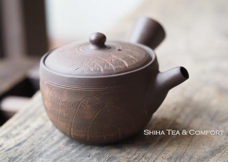 [ T02] 陶寿仿木质茶壺急須 TOJU Wood like Small Pottery Teapot KYUSU