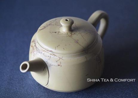 白山绿泥藻掛茶壺急須 Hakusan , Mogake, Green Clay Seaweed Teapot KYUSU