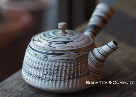 White Clay Marble Artistic Japanese Teapot 白胶泥壺