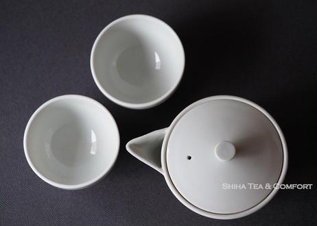 京都白茶宝瓶茶杯两件套 KYOTO Porcelain Houhin Tea ware Set