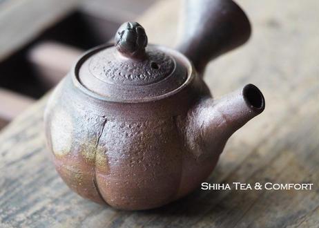 備前南瓜形茶壺急須 TAKASHI SAITO Bizen  Small Pumpkin Kyusu Teapot