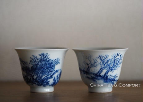 急須 Vintage Japanese Blue & White Porcelain Teapot Teaware set Cups Kyusu