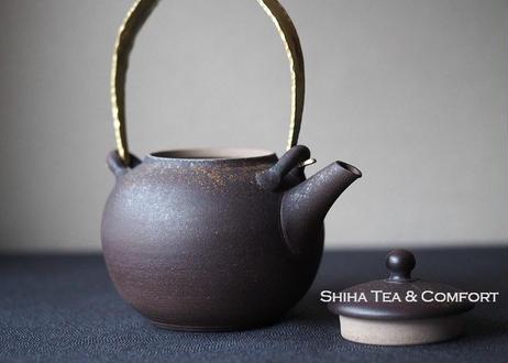 急須 Jinshu Shell Gold Metal handle small  Teapot KYUSU