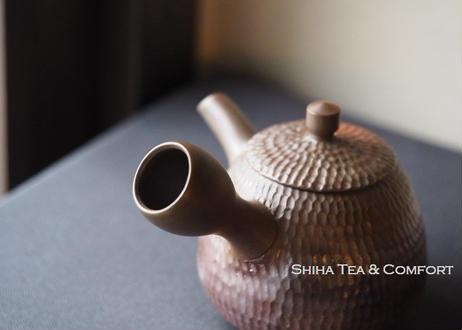 常滑焼素三槌目窯変急須 Motozo Red Clay Hummer Teapot KYUSU
