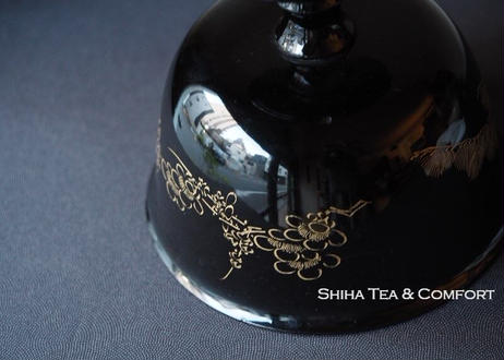 Vintage: Haisen- Black Lacquer Cup Wash Bowl in old time of Japan
