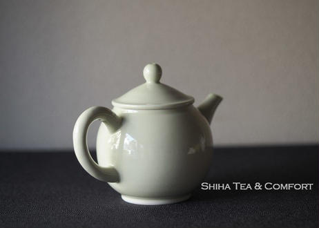 清昌煎茶道黄色小磁壺急須 Kyoto Senchado Porcelain Yellow Small Teapot Kyusu
