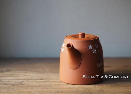 SEIHO TSUZUKI Sakura Teapot  都築青峰朱泥急須