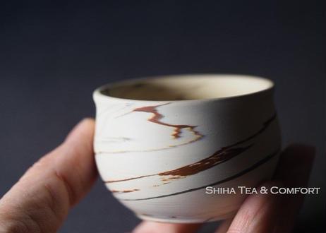 憲児白泥胶泥小茶杯  Marble Agateware White Clay  Small Cups 5 pcs