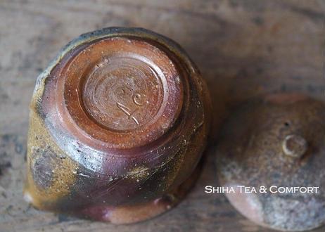 Bizen wood fired Houhin Yellow Ash 備前 宝瓶