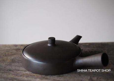 JINSHU Flat Black Teapot Left Hand (Wood Box with artist's signature (certificate) )甚秋 JN65