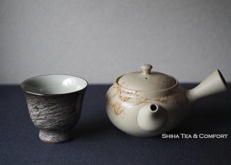 白山白泥藻掛小茶壺急須 HAKUSAN Mogake Small Teapot (140ml) Kyusu