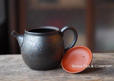 SHORYU Oil Drop Red & Gold Lid Teapot 昭龍油滴