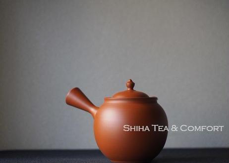 鯉江廣(玲光 )急須 Red Fine Clay Handmade Ceramic Kyusu Teapot.