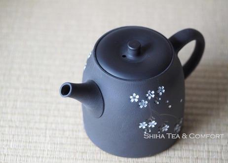 都築青峰朱泥樱花后把壶急須 SEIHO TSUZUKI Sakura Teapot (275ml ) Kyusu