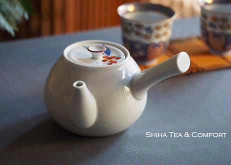 香蘭社白磁大急須茶壺 White Porcelain Big Teapot Kyusu