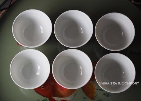 加藤清昌白瓷薄胎煎茶碗6件 SEISHO KATO Porcelain Sencha Cup Set