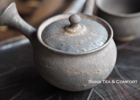 淳蔵急須 Black&Gold Glazing Small Ceramic Kyusu Teapot