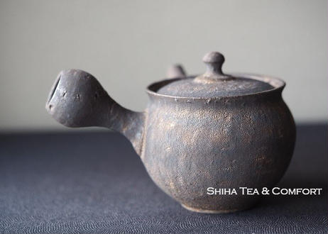 淳蔵黒金急須 Black&Gold Glazing Small Ceramic Kyusu Teapot