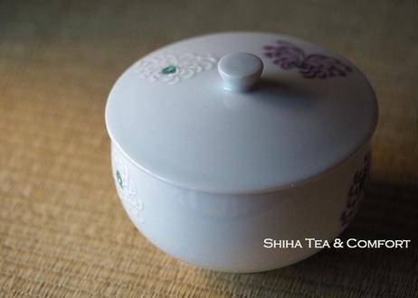 日本古董带盖瓷器茶碗一双 Vintage Pair Cups with lid from Old time of Japan