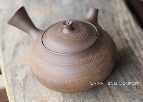 [T01] 陶寿仿木质茶壺急須 TOJU Wood like Pottery Teapot KYUSU