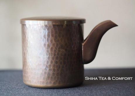 文房 铜 槌目 Water Jar for Calligraphy Copper Hummer beaten pattern