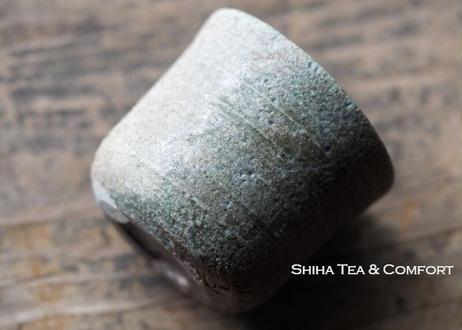 Cedar Wood Fired SUZU Ware Shinohara Takashi Black&Ash Cup 珠洲柴焼