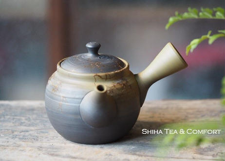 Hakusan Green Smoke Black Gradation Seaweed Kyusu Teapot 白山緑黒