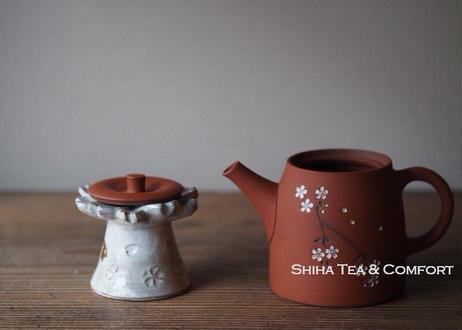 Teapot Lid Holder Sakura Art (Futaoki) 桜花蓋置