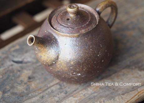 備前安藤騎虎柴焼急須茶壺  KIKO  ANDO Wood Fire Bizen Reddish Teapot KYUSU