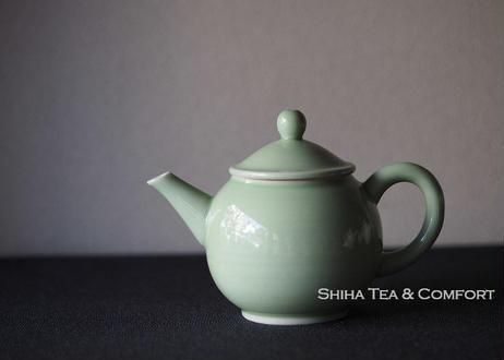 清昌煎茶道緑小磁壺急須 SEISHO SenchadoPorcelain Green Small Tepot Kyusu