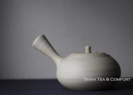Hakusan 白山急須, Mogake, WhiteClay  Seaweed Japanese Ceramic Kyusu Teapot