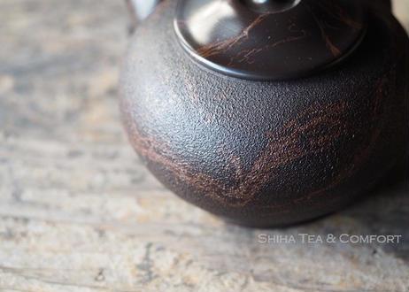 KOUSHIN Black Red Mable Seaweed Teapot KYUSU 香臣藻挂大理石风