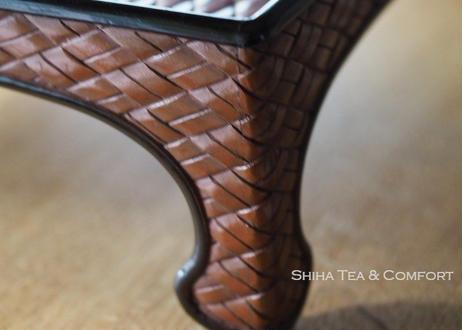 古董雕刻黑漆御膳 Vintage Small dining table from old time of Japan