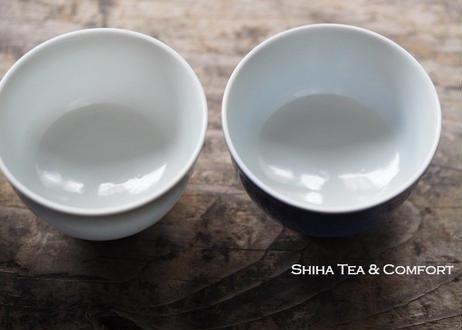 加藤清昌瓷杯五色薄胎煎茶碗  SEISHO KATO Porcelain Sencha Cup Set