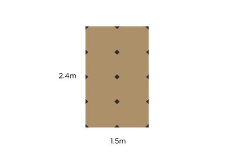 """PB Tarp 5×8 FactoryTuned """"for oldskool UL hiker"""""""