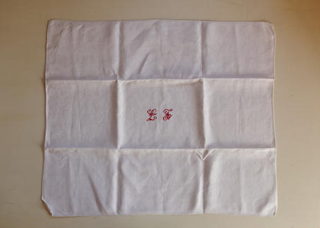 "French linen cloth ( Monogram""LJ"")"
