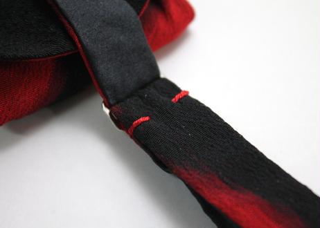 蝶ネクタイ KIMONO fabric 縮緬絣 上京蝶帯 #655
