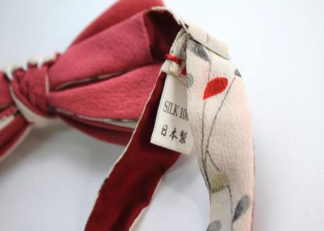 蝶ネクタイ KIMONO fabric 手描き友禅 萩文様 上京蝶帯 #653