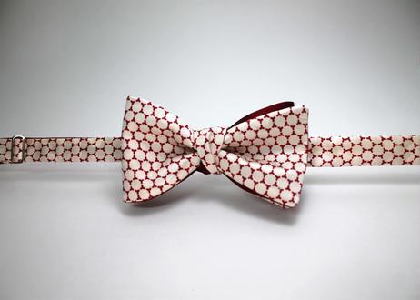 蝶ネクタイ KIMONO fabric 亀甲文様 上京蝶帯 #411