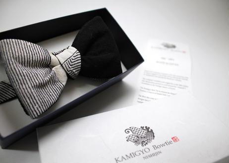 蝶ネクタイ KIMONO fabric アシンメトリーバイカラー 型友禅 上京蝶帯 #537