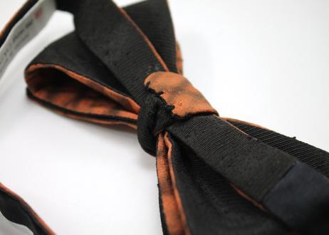 蝶ネクタイ KIMONO fabric 暈し格子 上京蝶帯 #599