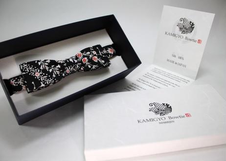 蝶ネクタイ KIMONO fabric 型友禅 上京蝶帯 #394