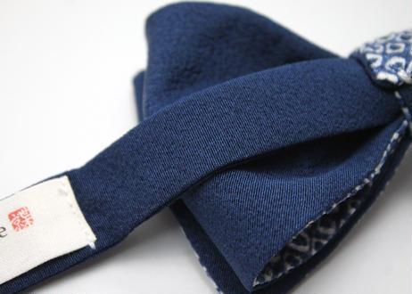 蝶ネクタイ KIMONO fabric 総絞り染 上京蝶帯 #555