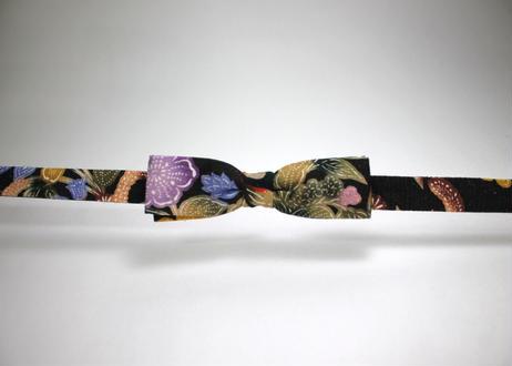 蝶ネクタイ KIMONO fabric 琉球 伝統工芸 紅型 上京蝶帯 #390