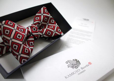 蝶ネクタイ KIMONO fabric 三枡 型友禅 上京蝶帯 #537
